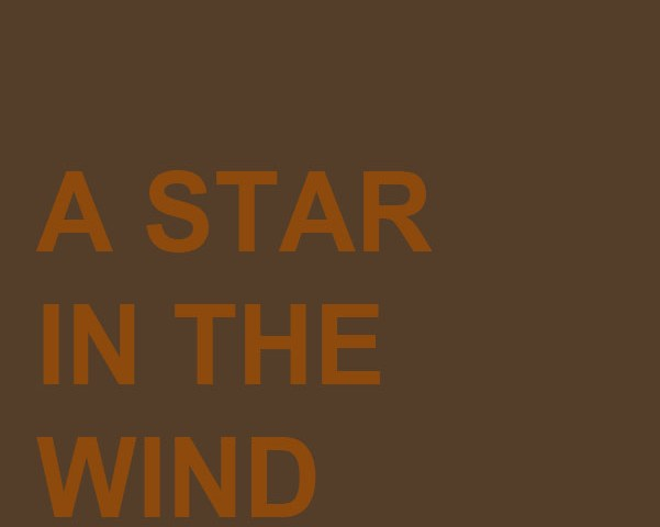 A Star in the Wind
